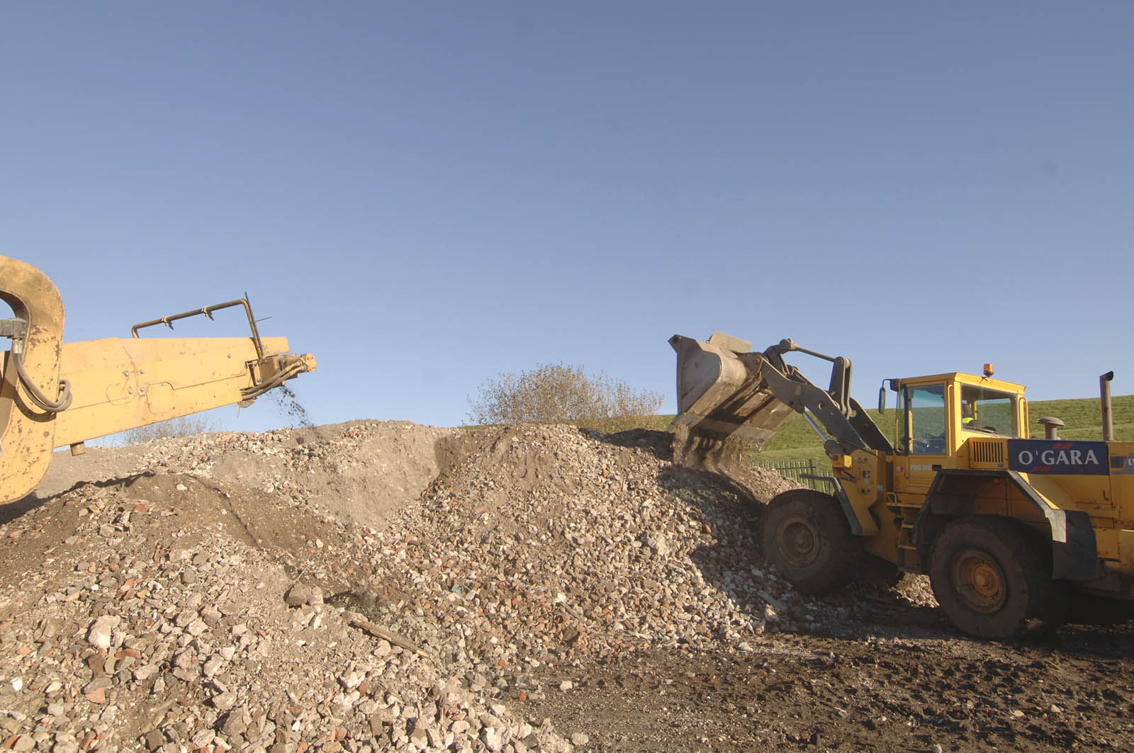 Aggregate Disposal at our Soil Treatment Facility in Manchester